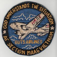 RARE EARLY Air Force MAAG Vietnam Patch GUTS AIRLINES