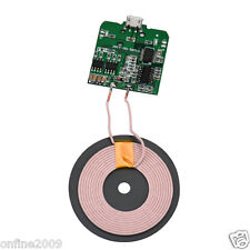 DIY Qi Wireless Charger PCBA Circuit Board Coil Wireless Charging Micro USB Port