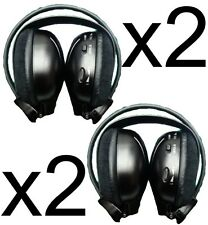 2 Headphones wireless car DVD for Toyota Ford Chrysler Nissan Pathfinder Fold