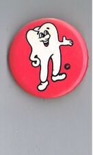"1980s Murphy the Molar Tooth Ad 1.5"" Canada Pinback Button Dentistry Advertising"