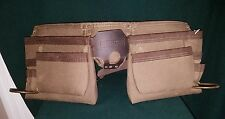 Craftsman 11 Pocket Leather & Canvas Tool Belt Pouch Apron Electrician/Carpenter