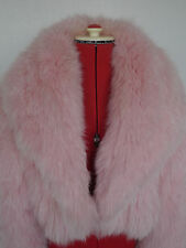 STUNNING ROSE PINK REAL ARCTIC FOX FUR BOLERO CAPE JACKET