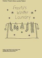 """Primitive Stitchery Pattern, """"Frosty's Winter Laundry"""""""