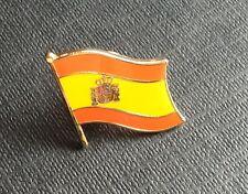 BELLISSIMO DISTINTIVO IN METALLO BANDIERA SPAGNOLA SPILLA SPAGNA FLAG METAL PI