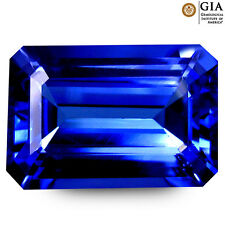 8.11 ct GIA CERTIFIED AAAA+ TREMENDOUS OCTAGON (14 x 10 mm) D'BLOCK TANZANITE