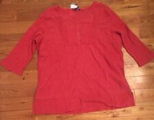NWT Womens BANDOLINO Cranapple Lisa Marie 3/4 Sleeve Peasant Blouse Shirt Sz 2XL