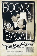 IL GRANDE SONNO THE BIG SLEEP MANIFESTO HUMPHREY BOGART LAUREN BACALL
