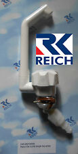 Reich Deluxe Single Cold Water Tap, White, For Caravan/Motorhome/Boat, NEW