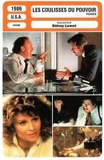 FICHE CINEMA : LES COULISSES DU POUVOIR - Gere,Christie,Hackman,Lumet 1986 Power