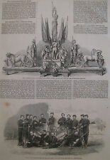 CALCUTTA VOLUNTEER RIFLE BARRACKPORE INDIA WINNERS 1865 ILLUSTRATED LONDON NEWS