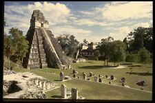 056078 Temple I And Plaza Major Tikal Guatemala A4 Photo Print