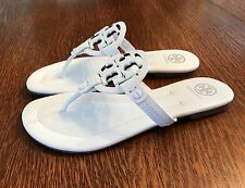 Tory Burch Miller Thong Sandals White Handpainted Size 9.5 $225 NWT