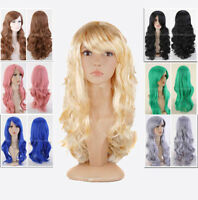 """30"""" Women Fashion Curly Wave Long Cosplay Party Wigs Heat Resistant Hair+Wig Cap"""
