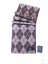 Johnstons Luxury Lambswool Argyle Scarf - Purple - LIMITED STOCK ONLY £6.95