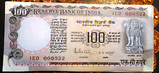 100 RUPEES BANK NOTE AGRICULTURE ISSUE, CRISP G E M SIGNED R N MALHOTRA