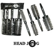 Head Jog QUAD Hair Brush Gift Set KIT 4 x Heat Retaining Radial Brushes
