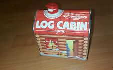 VINTAGE 1987 100TH ANNIVERSARY ADVERTISING TIN LOG CABIN SYRUP