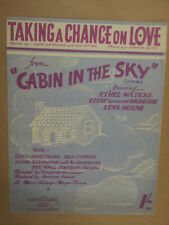 song sheet TAKING A CHANCE ON LOVE cabin in the sky