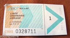 Biglietti carnet del tram usati fuori corso collezione ATM Milano linee urbane