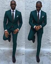 New Men Wedding Suits Dark Green Groomsmen Suits Formal Business Tuxedos 2 Piece