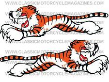 Triumph Leaping Tigers Front Number Plate Decal Transfer Sticker Motorcycle T120