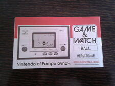 NINTENDO GAME & WATCH BALL REEDITION CLUB NINTENDO DUTCH INSTRUCTION MANUAL