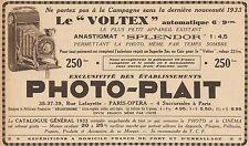 Y8845 PHOTO-PLAIT - Voltex automatique - Pubblicità d'epoca - 1933 Old advert