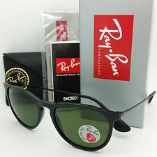 NEW RAYBAN Sunglasses RB4171 601/2P Erika Black Polarized Grey Green GENUINE
