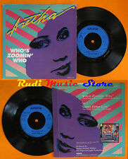 LP 45 7'' ARETHA FRANKLIN Who's zoomin who Sweet bitter love 1985 uk cd mc dvd