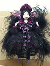 KF0660  Ugly Fairy Doll Purple Black Decorative Collectible Fairies Holiday