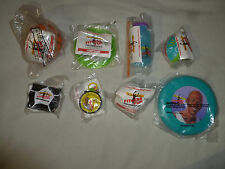 NEW 1991 AIR JORDAN FITNESS FUN CHALLENGE MCDONALDS HAPPY MEAL TOY SET LOT OF 8