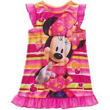 Girls Disney Minnie Mouse Nightgown Pajama Dress New with Tags Size 5T Cute! NWT