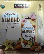 Kirkland Signature Organic Unsweetened Vanilla Almond Milk 6 Pack/32 OZ Vegan