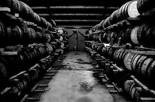 Framed Print - Black & White View of a Whiskey Distillery (Picture Alcohol Art)