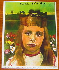 PETER BLAKE ~ ALICE IN WONDERLAND ~ NICELY HAND SIGNED PHOTOGRAPHIC POSTCARD