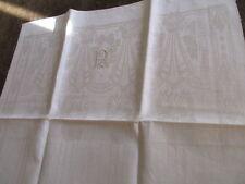 herrliches altes Leinen Geschirrtuch Handtuch Tischläufer Prunk Jugendstil (145)