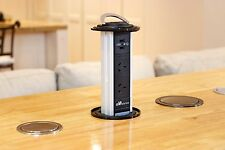 V5WUB-UK Waterproof Kitchen Pop Pull Up Power Point Outlet Socket Bench Top USB