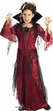 GOTHIC VAMPIRESS  DRESS UP COSTUME LARGE 7-8 YEARS OLD SIZE REDUCED FREE UK P+P