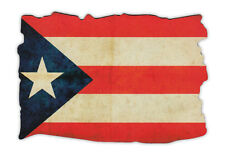 Magnetic Bumper Sticker - Puerto Rico Flag (Weathered Look) - Puerto Rican Pride