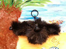 NEW*KIPLING RARE COLLECTIBLE MONKEY KEYRING*PETER PILOTTO COLLECTION*PITCH BLACK