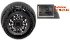 IR Dome Kamera m. Micro-SD DVR, Video + Ton Aufzeichung mit Bewegungserkennung