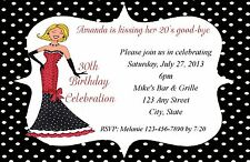 Personalized 30th/40th/50th Birthday Party Invitations