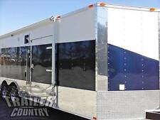 NEW 2017 8.5 X 24 V-NOSE ENCLOSED CARGO CAR HAULER TRAILER LOADED RACE PACKAGE 3