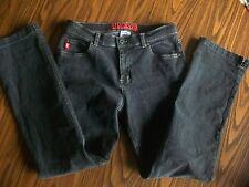 Guess stretch SZ 30 black straight jeans  Great condition!!