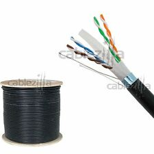 Cat6 OUTDOOR 1000FT FTP Shielded 23AWG Direct Burial Pull Box Cable