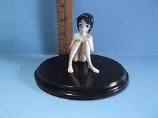 "Love Hina Shinobu 3""in Figure in Yellow Bathing Suit Black Hair Sitting Cute!"