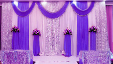10x20ft Pleated Wedding Decor Backdrop Curtain Background Sparkly Sequin Swag 05