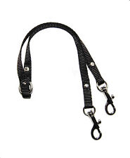BLACK 2 WAY CHIHUAHUA  DOG/PUPPY COUPLER/LEAD