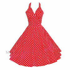 Maggie Tang 50s VTG Polka Dots Housewife Rockabilly Pinup Swing Dress R-501 503