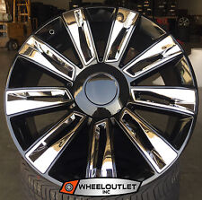 "24"" Rims 2016 Platinum Black Chrome Wheels Tires Cadillac Escalade EXT ESV"